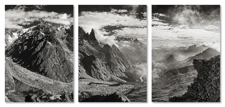 """""""Per aspera ad astra"""" - trittico - Monte Bianco versante ovest / limited edition"""