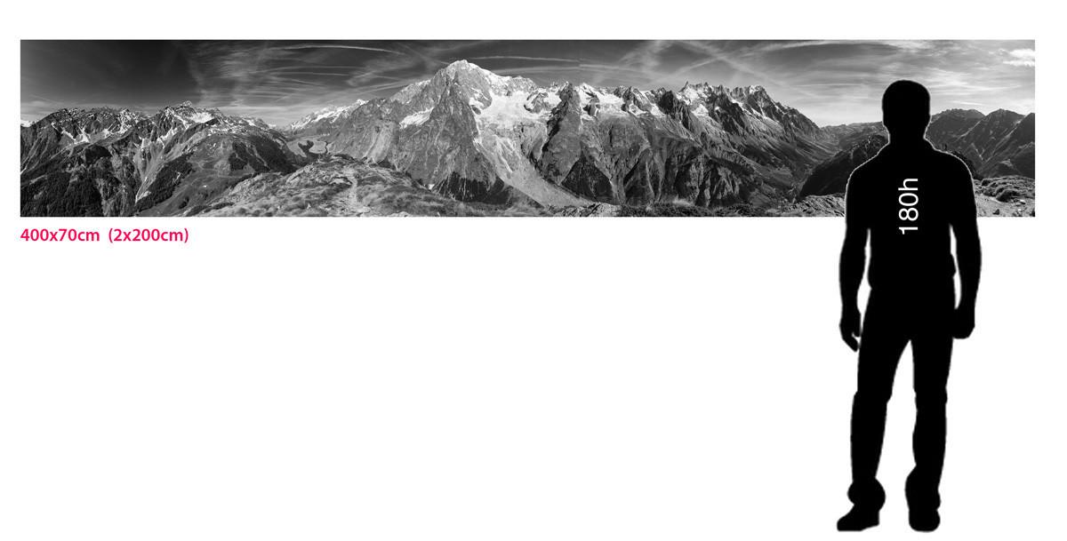 Monte Bianco - veduta centrale / Gigantografia