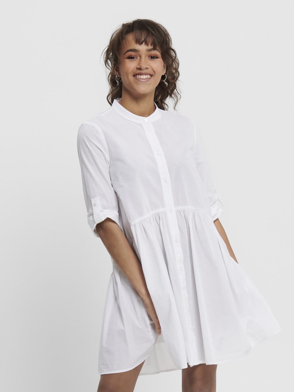 ONLCHICAGO 2/4 SLEEVE DNM DRESS WHITE