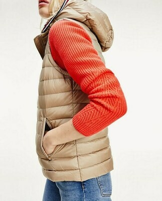 TOMMY TH ESSENTIAL LW DWN PACK VEST MEDIUM TAUPE