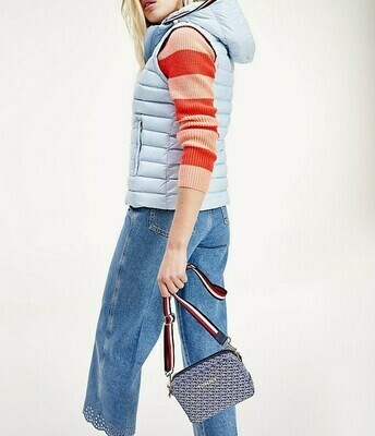 TOMMY TH ESSENTIAL LW DWN PACK VEST BREEZY BLUE
