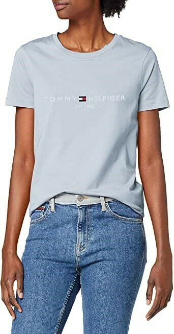 TOMMY NEW TH ESS HILFIGER C-NK TEE SS BREEZY BLUE