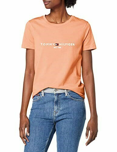 TOMMY NEW TH ESS HILFIGER C-NK TEE SS ISLAND CORAL