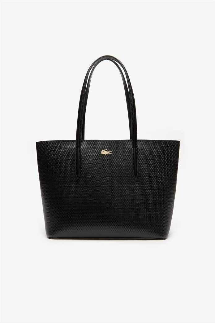 Lacoste Women's Shoulder Bag Chantaco Piqué Leather Zip