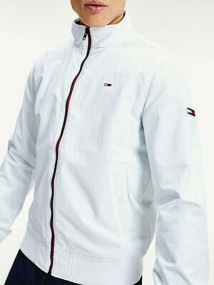 TOMMY TJM ESSENTIAL BOMBER JACKET WHITE