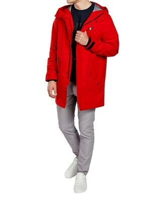 TOMMY MODERN ESSENTIALS PARKA Primary Red