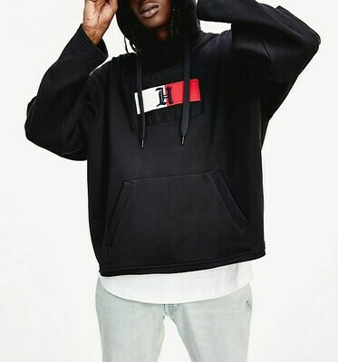 TOMMY LEWIS HAMILTON RED BOX LOGO HOODY BLACK