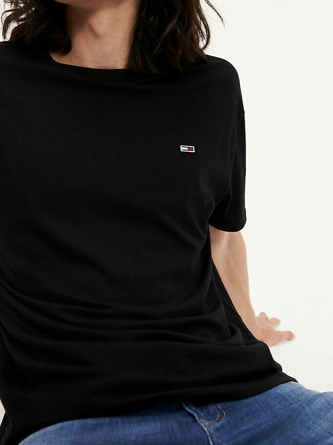 TOMMY TJM TOMMY CLASSICS TEE TOMMY BLACK