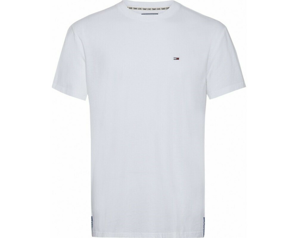 TOMMY TJM SOLID JERSEY TEE WHITE