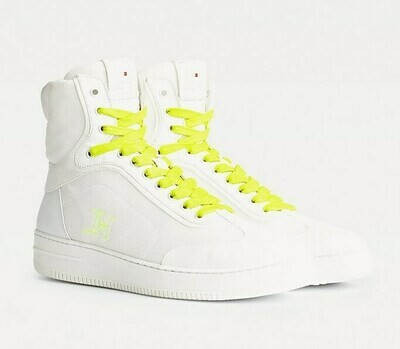 TOMMY LEWIS HAMILTON MODERN HIGH TOP SNEAKER Bright White