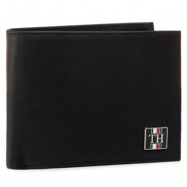 TOMMY TH SOLID CC FLAP AND COIN BLACK