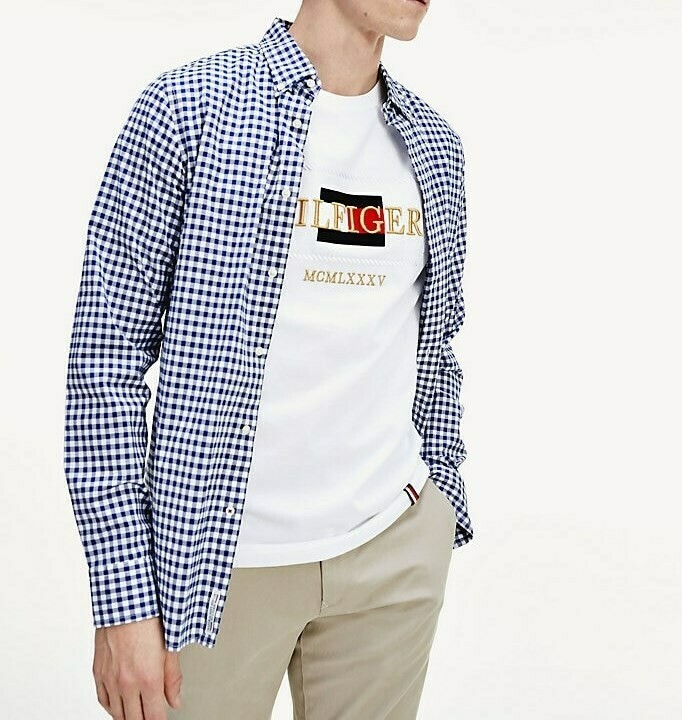 TOMMY ICON ROPE FRAME RELAX TEE WHITE
