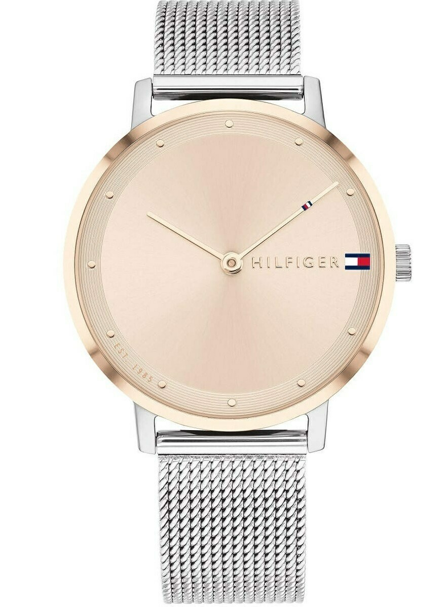 TH PIPPA SILVER MESH WATCH