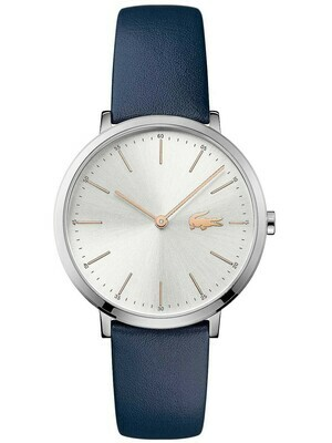 LACOSTE MOON BLUE LEATHER STRAP WATCH