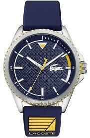LACOSTE NAUTICAL BLUE SILICONE STRAP WATCH