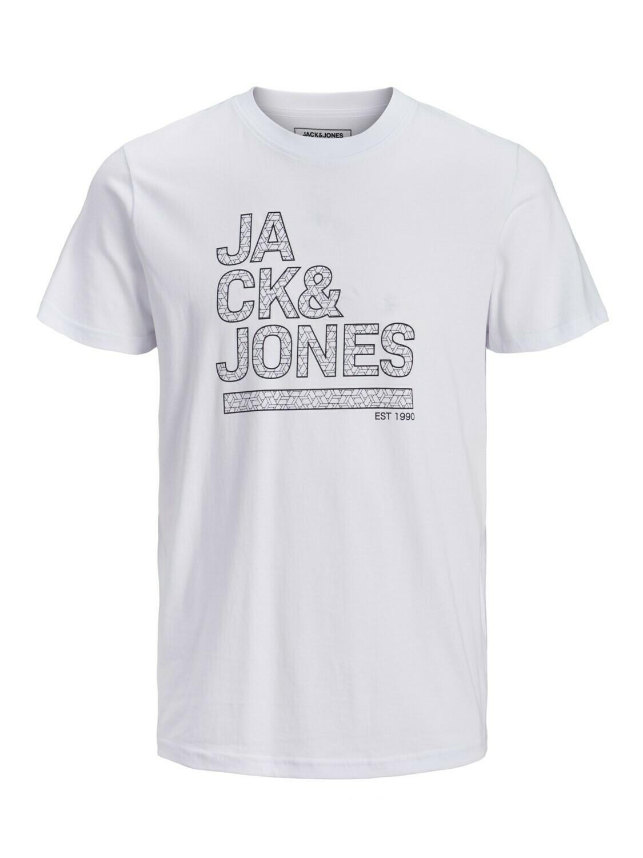 JACK&JONES JCOCOMPLETE TEE SS CREW NECK WHITE