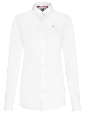 TOMMY JEANS WOMEN'S SLIM FIT OXFORD SHIRT