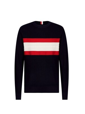 TOMMY HILFIGER MEN'S RIBBED CHEST STRIPE SWEATER