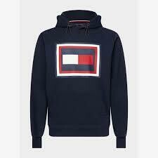 TOMMY HILFIGER MEN'S EMBOSSED AW HOODY