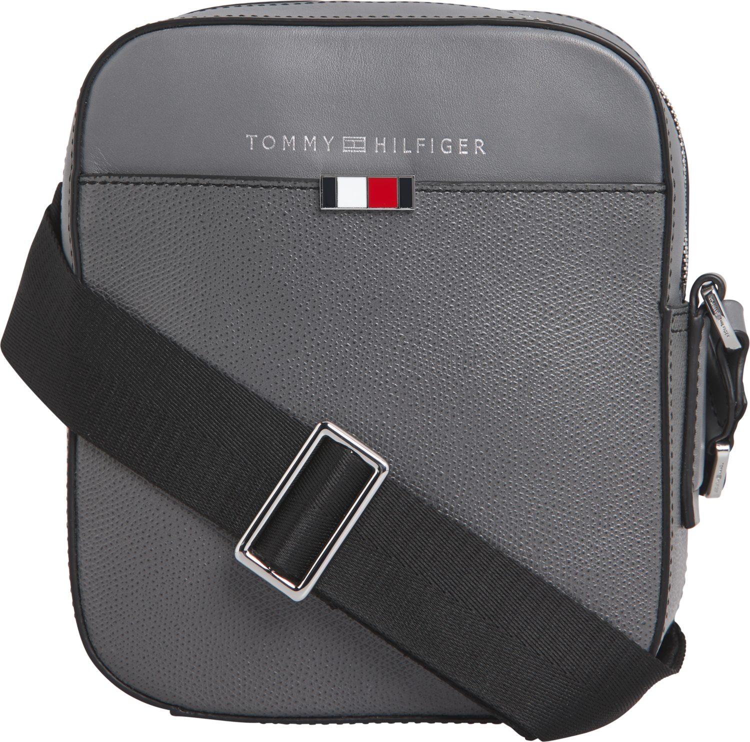 TOMMY BUSINESS LEATHER MINI REPORTER Concrete Grey