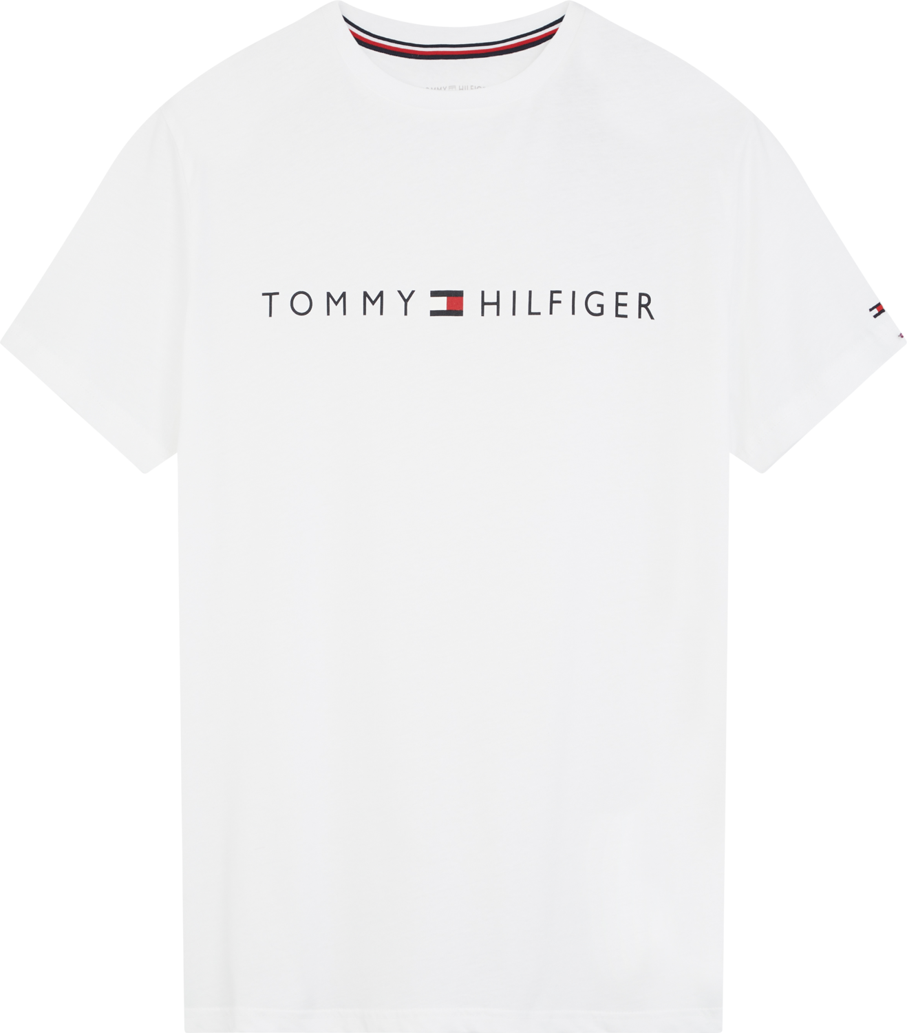 TOMMY CN SS TEE LOGO FLAG PVH Classic White