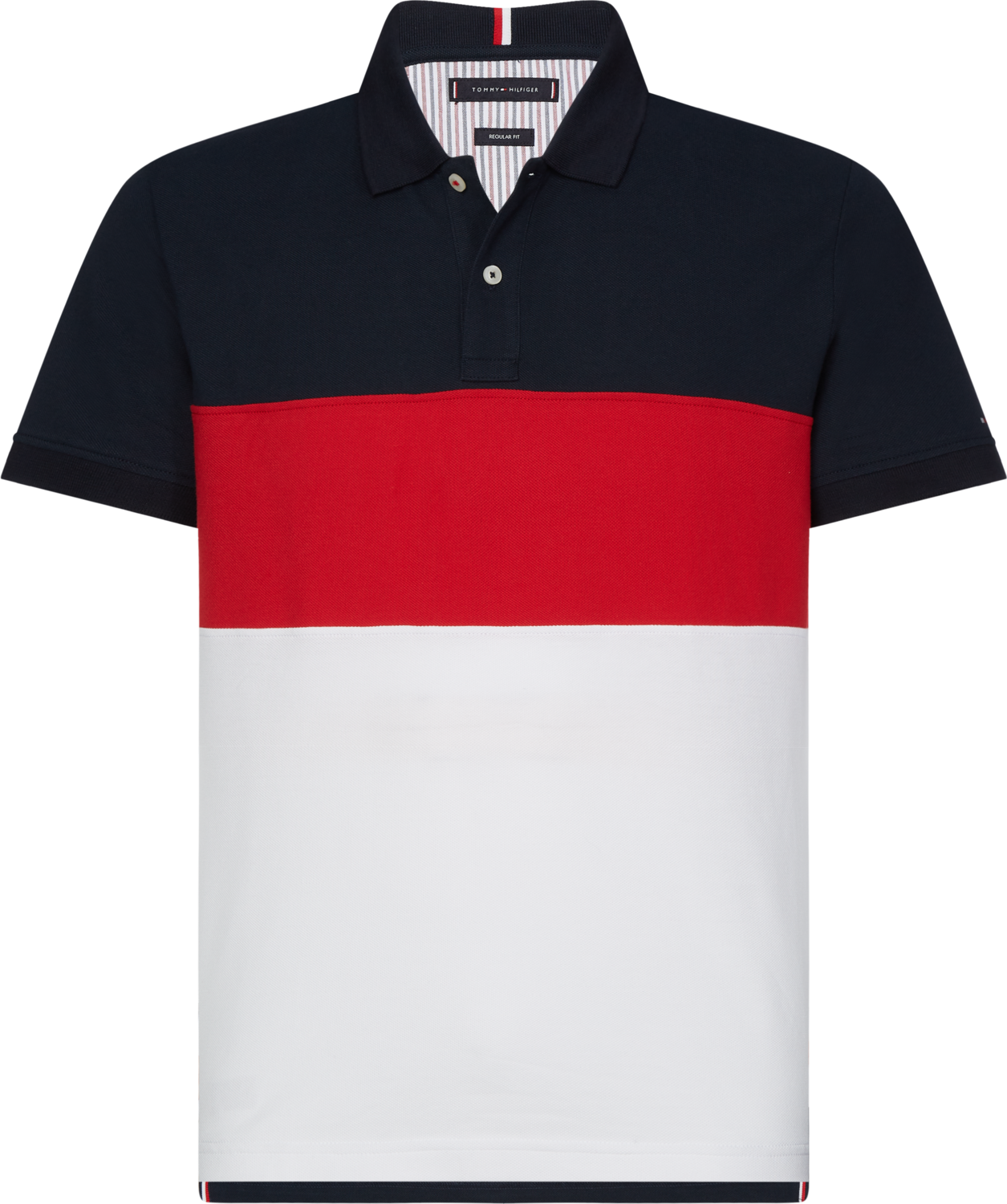 TOMMY COLORBLOCK REGULAR POLO DESERT SKY / PRIMARY RED / MULTI