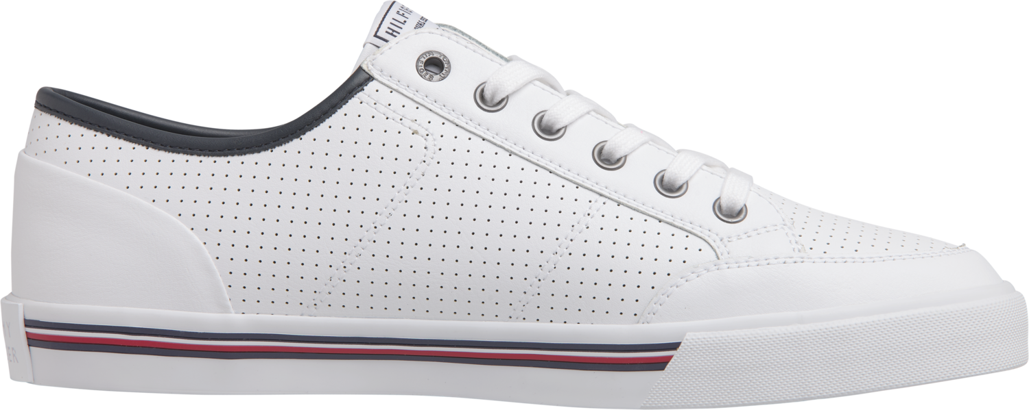 TOMMY CORE CORPORATE LEATHER SNEAKER White