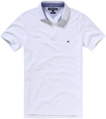 TOMMY CORE HILFIGER SLIM POLO CLASSIC WHITE
