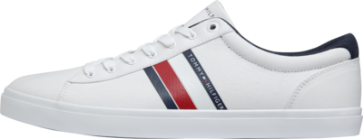 TOMMY ESSENTIAL STRIPES DETAIL SNEAKER White