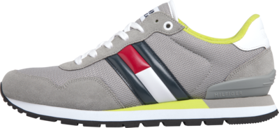TOMMY HILFIGER COLOUR-BLOCKED SUEDE TRAINERS