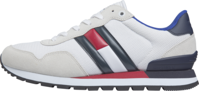 TOMMY HILFIGER COLOUR-BLOCKED SUEDE TRAINERS White