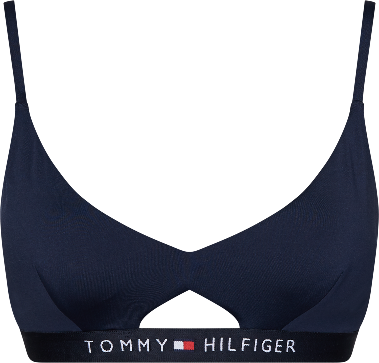 TOMMY HILFIGER CUTOUT DETAIL LOGO BRALETTE
