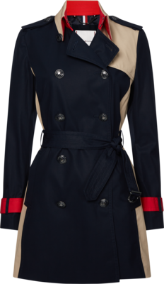 TOMMY ICON COLOURBLOCK TRENCH