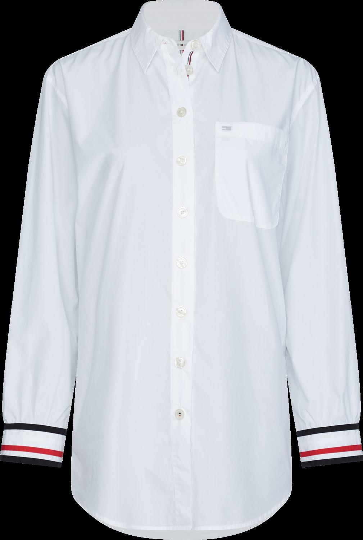 TOMMY ICON BOYFRIEND SHIRT LS WHITE