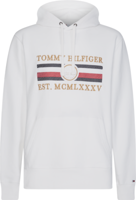 TOMMY ICON HOODY WHITE
