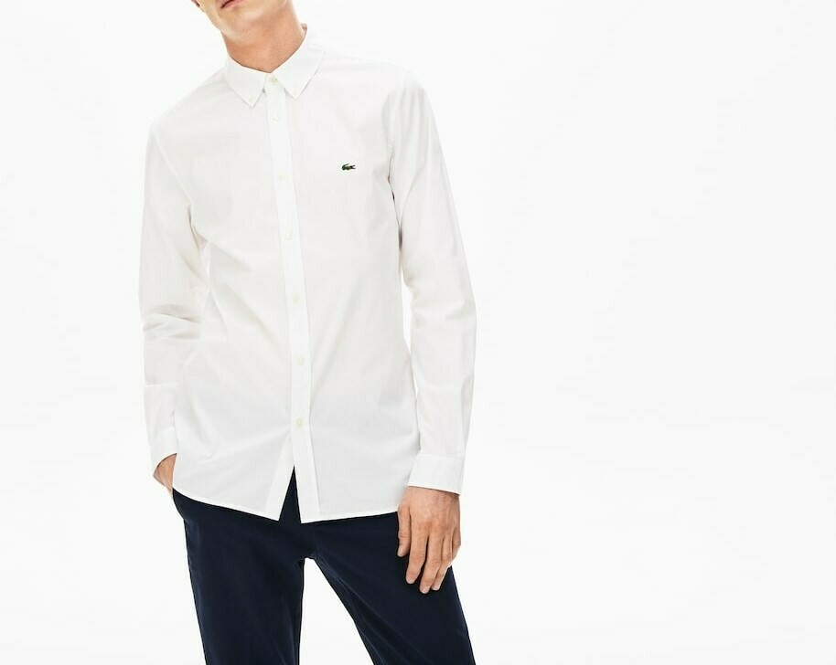 LACOSTE CHEMISE CASUAL MANCHES LO WHITE