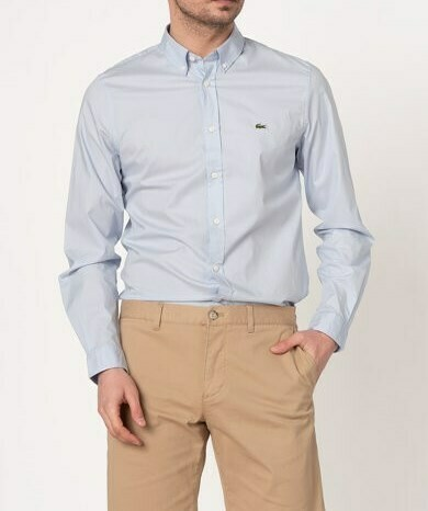 LACOSTE CHEMISE CASUAL MANCHES LO LIGHT BLUE