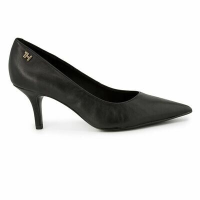 Tommy Hilfiger Essential Leather Mid Heel Pumps