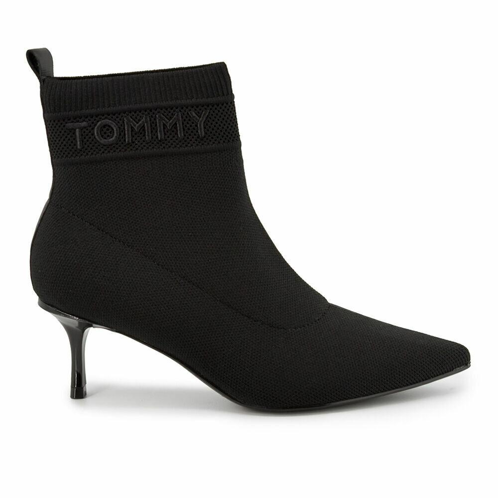 Tommy Hilfiger Knitted Sock Kitten Heel Boots