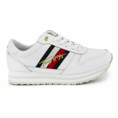 Tommy Hilfiger Signature Embroidery Flatform Trainers