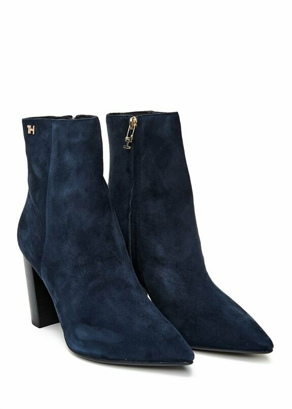 Tommy Hilfiger Essential Suede High Heel Boot