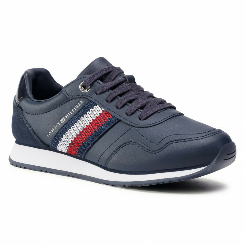 Tommy Hilfiger Knitted Signature Tape Low-Top Trainers