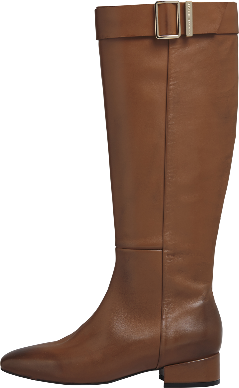Tommy Hilfiger Leather Square Toe Long Boot