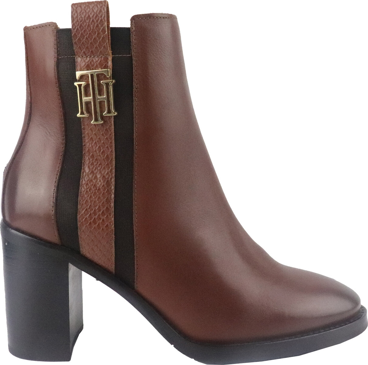 Tommy Hilfiger Monogram Plaque High Heeled Boots