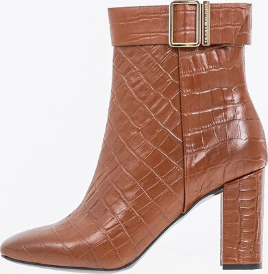 Tommy Hilfiger Print Leather High Heel Boots