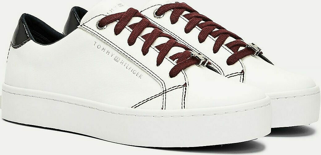 Tommy Hilfiger Monogram Plaque Trainers
