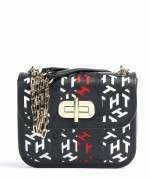 Tommy Hilfiger Turnlock Cut-Out Leather Crossover Bag