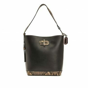 Tommy Hilfiger Statement Leather Croco-Print Bucket Bag