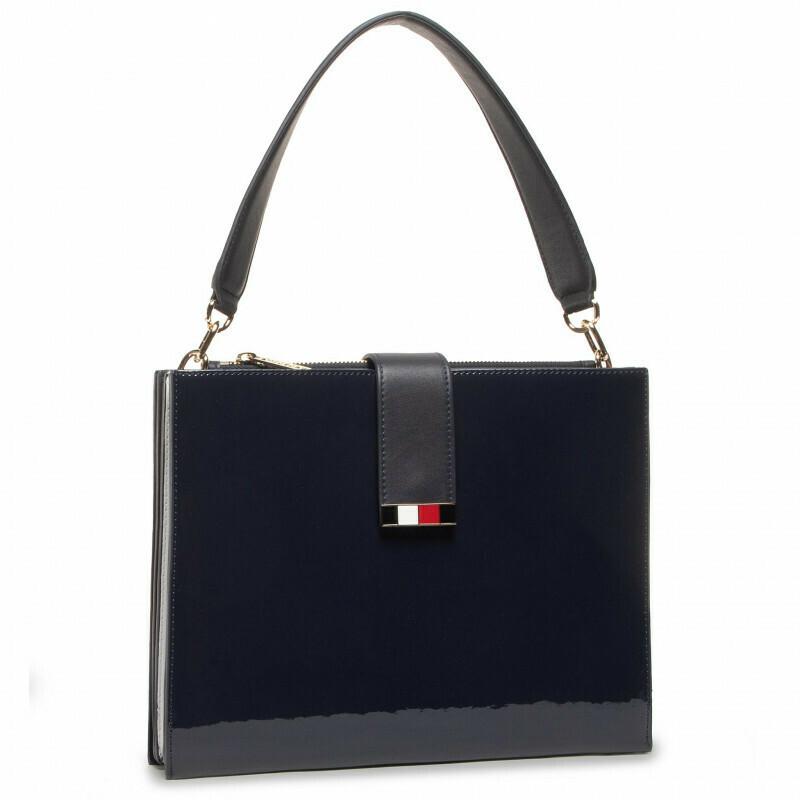 Tommy Hilfiger Statement High-Shine Shoulder Bag