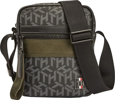 Tommy Hilfiger Coated Canvas Small Reporter Bag